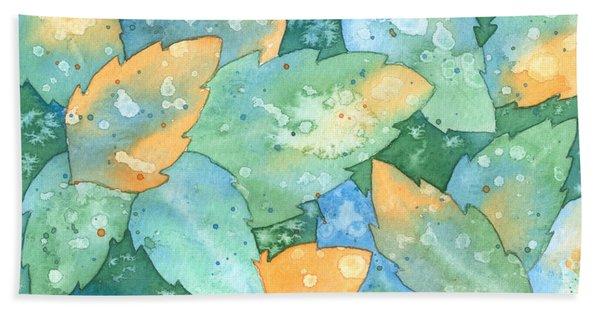 Early Frost Watercolor Bath Towel
