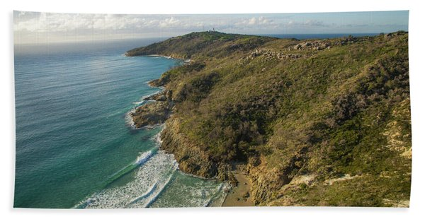 Early Morning Coastal Views On Moreton Island Hand Towel