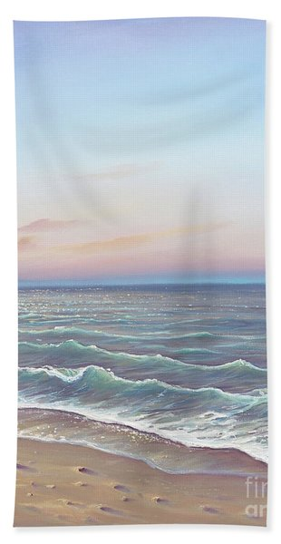 Early Morning Waves Bath Towel