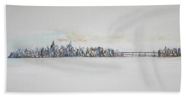 Early Skyline Hand Towel