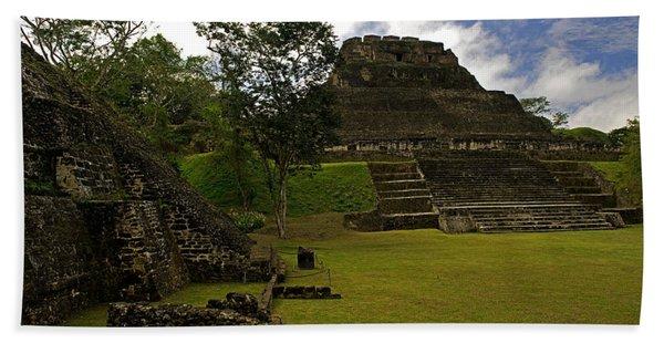 El Castillo Pyramid At Xunantunich Hand Towel