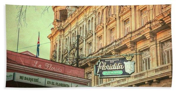 El Floridita Havana Cuba Bath Towel