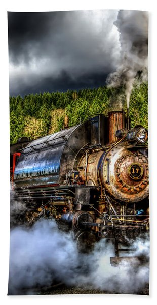 Elbe Steam Engine #17 Hdr Hand Towel