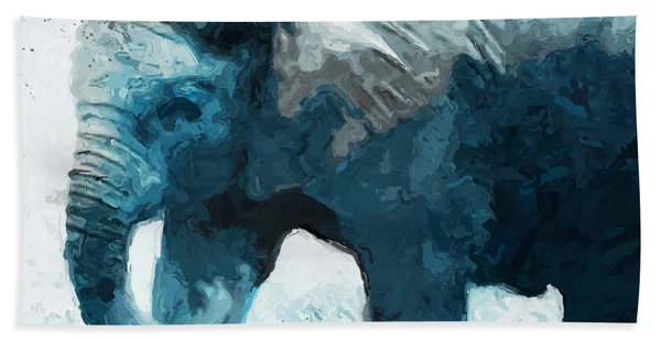 Elephant- Art By Linda Woods Bath Towel
