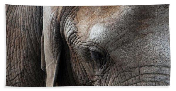 Bath Towel featuring the photograph Elephant Eye by Lorraine Devon Wilke