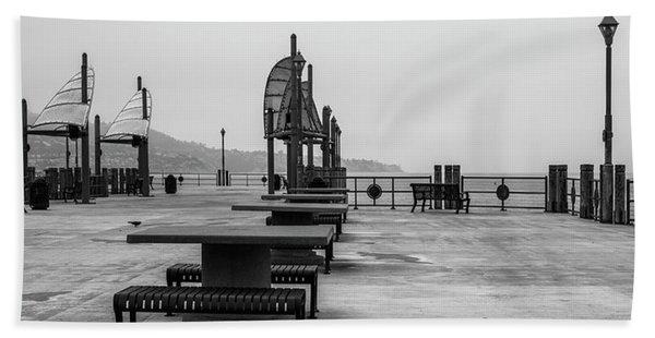 Empty Pier Hand Towel