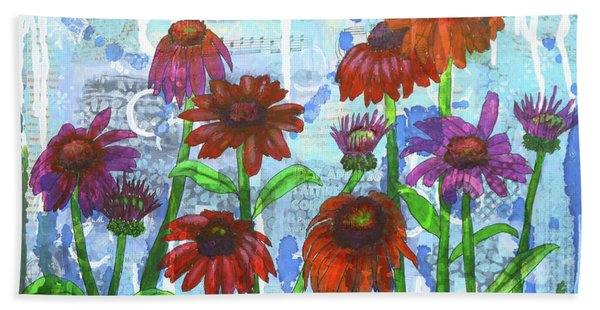 Enchanting Echinacea Hand Towel