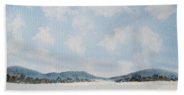 Entrance To Moulters Lagoon From Bathurst Harbour Hand Towel