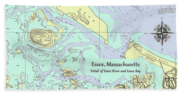 Essex River Detail Bath Towel