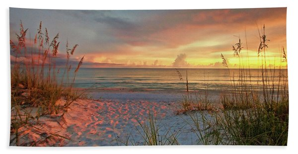 Evening At The Beach Hand Towel