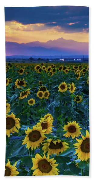 Hand Towel featuring the photograph Evening Colors Of Summer by John De Bord