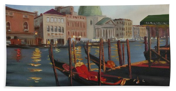 Evening In Venice Hand Towel