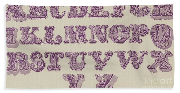 Example Alphabet  Hand Towel