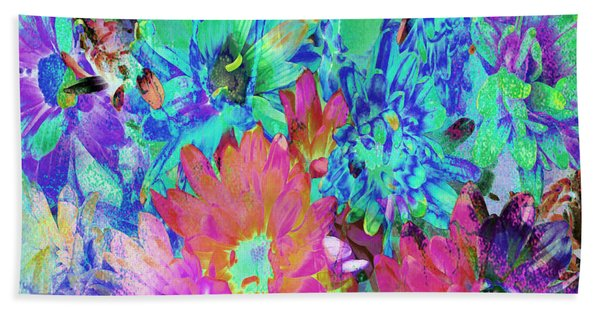 Bath Towel featuring the painting Expressive Digital Still Life Floral B721 by Mas Art Studio