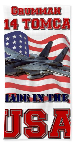 F-14 Tomcat Made In The Usa Bath Towel