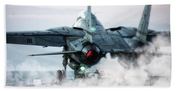 F14 Tomcat Launch Bath Towel