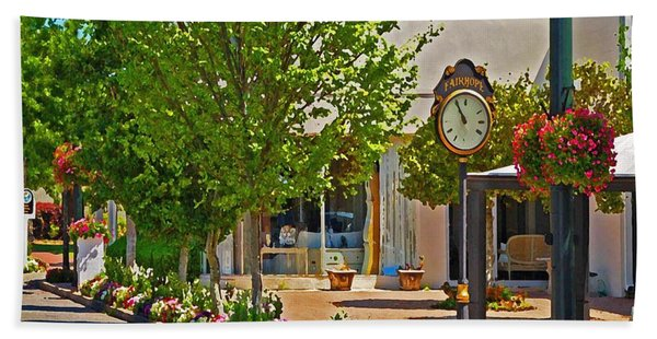 Fairhope Ave With Clock Looking North Up Section Street Bath Towel