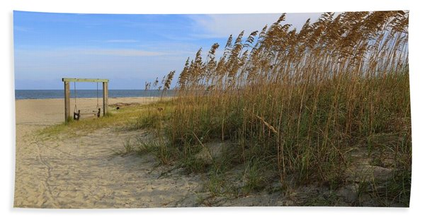 Fall Day On Tybee Island Bath Towel