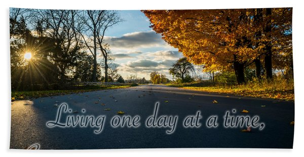 Fall Day With Saying Bath Towel
