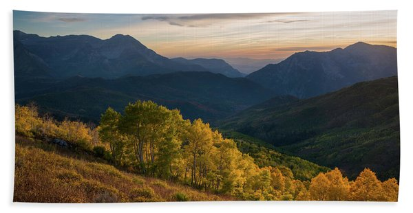 Hand Towel featuring the photograph Fall Evening In American Fork Canyon by James Udall