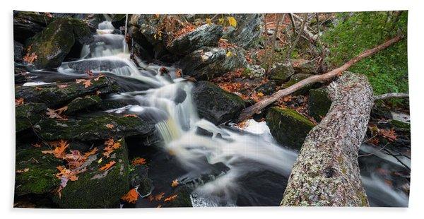 Fallen In Danforth Falls Bath Towel
