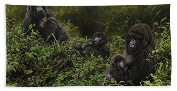Family Of Gorillas Bath Towel
