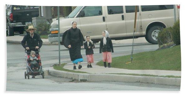 Family Walk Hand Towel