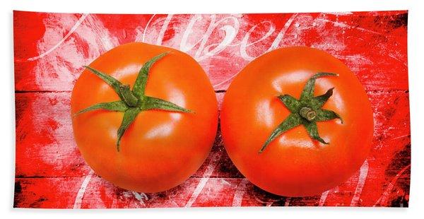 Farmers Market Tomatoes Bath Towel