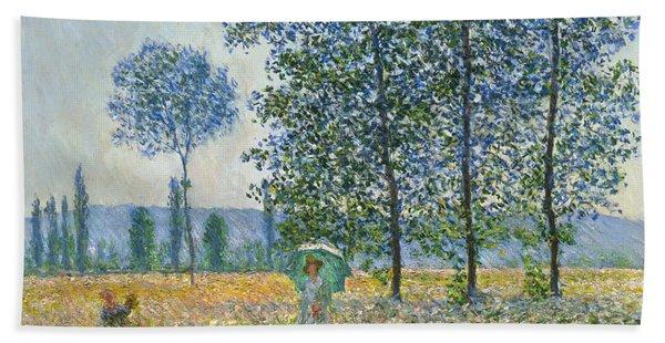 Fields In Spring, 1887 Bath Towel