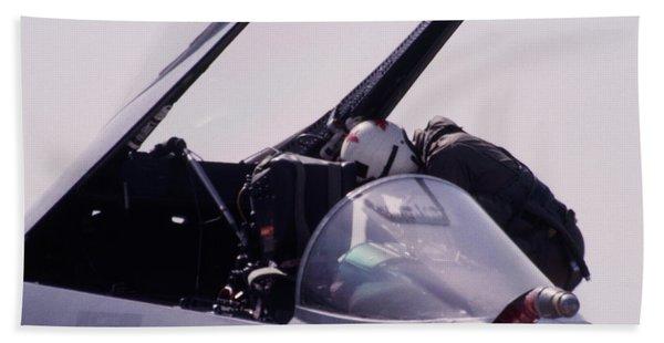 Fighter Pilot - F-18 Hornet Bath Towel