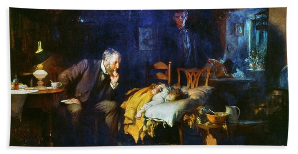 Fildes The Doctor 1891 Bath Towel
