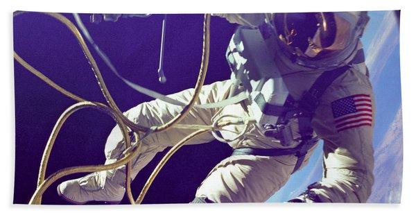 First American Walking In Space, Edward Bath Towel