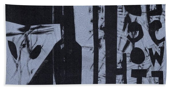 Fisher Covers Reverse White On Black Bath Towel