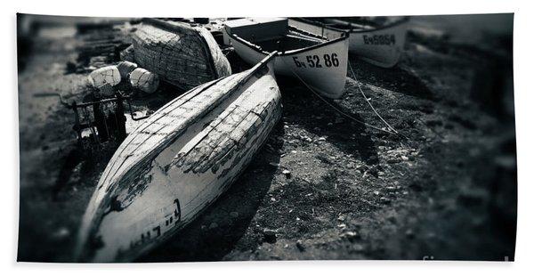 Fishing Boats At The Old Port Bath Towel