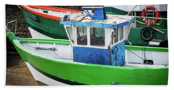 Fishing Boats Bath Towel