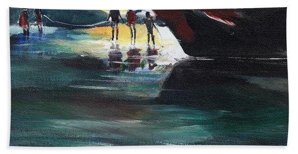 Fishing Line Hand Towel