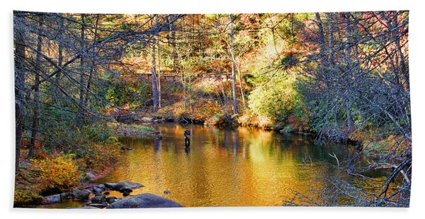 Fishing On The Cullasaja By H H Photography Of Florida Hand Towel
