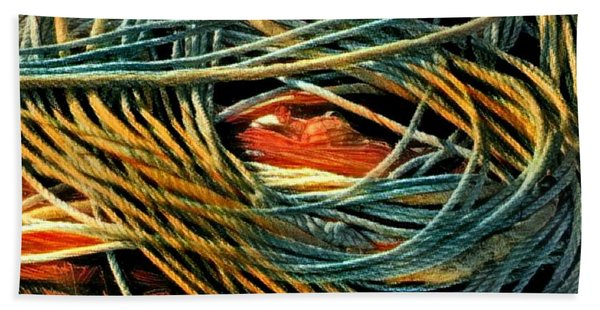Hand Towel featuring the photograph Fishing  Rope  by Colette V Hera Guggenheim