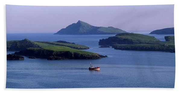 Fishing Trawler, Blasket Islands, Co Bath Towel