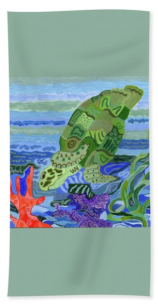 Flip The Sea Turtle Bath Towel