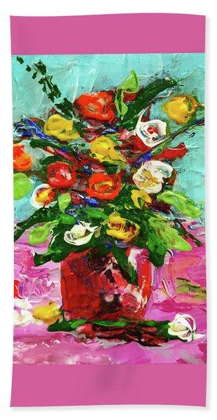 Floral Arrangement Bath Towel