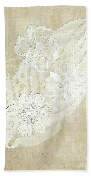 Floral Imprints Bath Towel