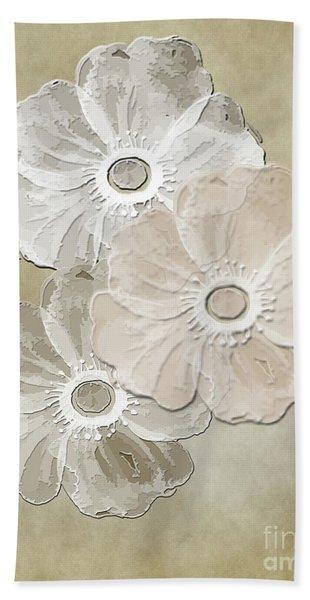 Floral Pattern Bath Towel