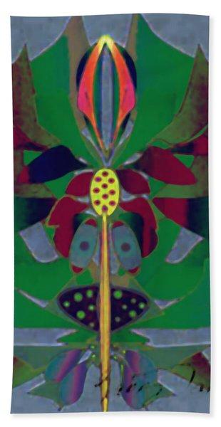 Flower Design Hand Towel