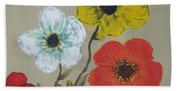 Flower Trio Hand Towel