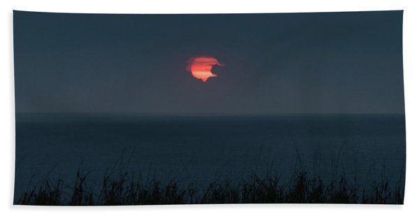 Fog Shrouded Sunrise Delray Beach Florida Hand Towel