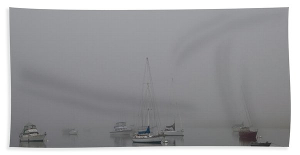 Waiting Out The Fog Hand Towel