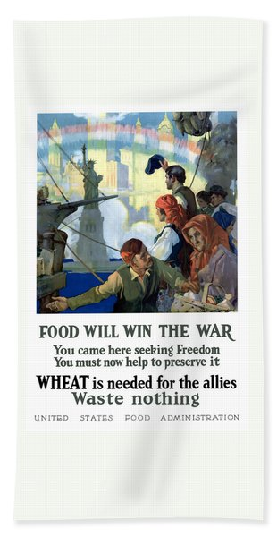 Food Will Win The War Bath Towel