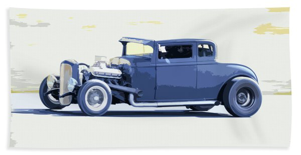 Ford Chopped Hot Rod Hand Towel