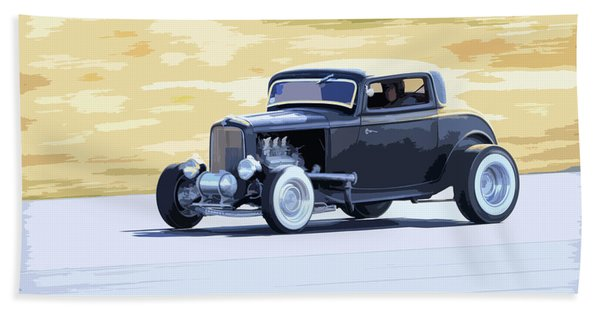 Ford Coupe Racing Hand Towel